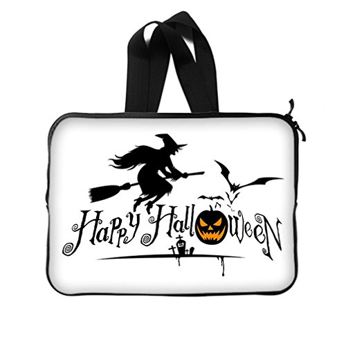 JIUDUIDODO Custom Cool Halloween Evil Jack with Bat Neoprene Laptop Sleeve 11
