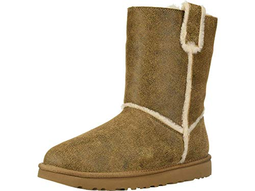 (UGG Women's W Classic Short Spill Seam Fashion Boot, Chestnut, 8 M US)