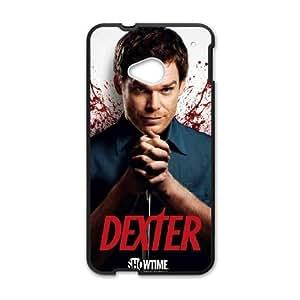 HTC One M7 Cell Phone Case Black Dexter Blood qsfg