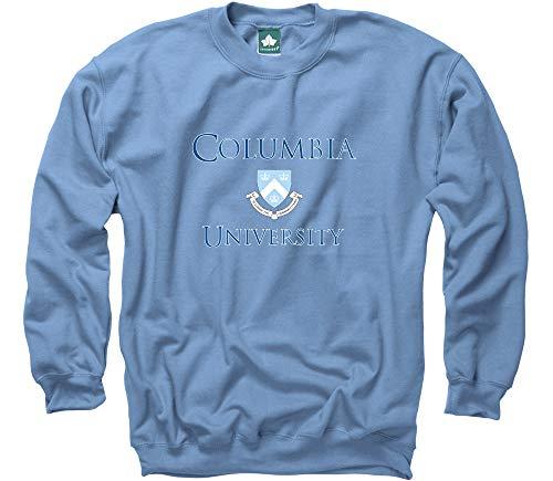 (Ivysport Columbia University Crewneck Sweatshirt, Crest, Light Blue,)
