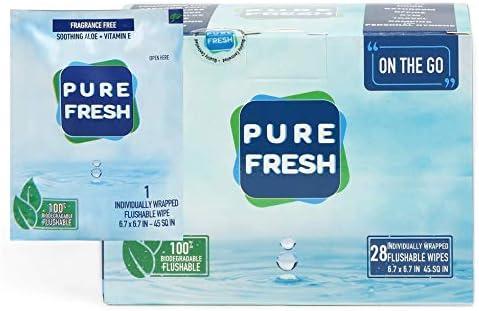 PureFresh Wet Wipes Flushable Individually product image