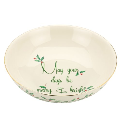 Lenox Holiday Bowl, May Your Days be Merry and Bright