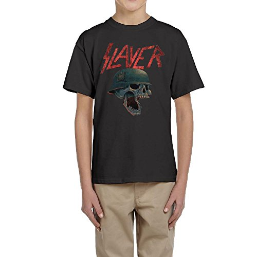 MaryMShea Youngster Tops T-Shirt Slayer Band Hip Hop Classic Comfort Boys Girls Tshirts M by MaryMShea