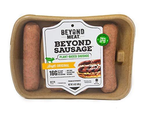 Beyond Meat Brat Original Plant-based Sausage, 14 oz (2 Pack, 8 Links - Better Burger