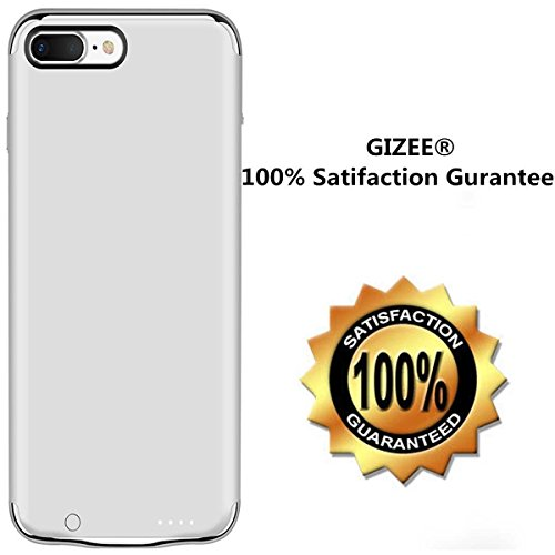 iPhone 6 6s 7 Plus Battery predicament GIZEE extremely slimmer 3 In 1 Metal Textured 4000 mAh compact Protective Charging predicament for Apple iPhone 6 Plus iPhone 6S Plus iPhone 7 Plus 55 Inch Silver Batteries