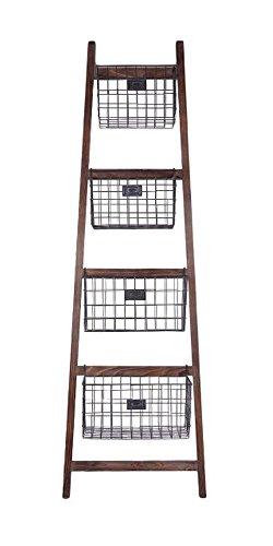 Cheung's 4606 Ladder and Basket Organizer Piece, Brown