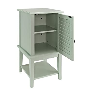 Powell Furniture Shutter Door Table, Aqua