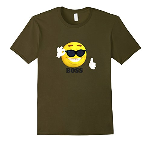 Mens Boss emoji sunglasses funny meme T-shirt woman man T-shirt 3XL - Emoji Sunglasses Meme