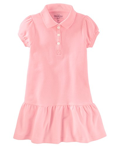 Oshkosh Kids Dress (Osh Kosh Big Girls' Polo Dress, Pink, 7)