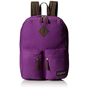 JanSport Hoffman Backpack - Vivid Purple / 16.7H x 13W x 7D