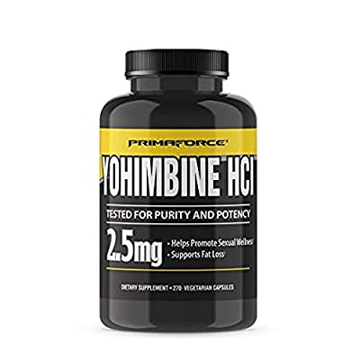 PrimaForce Yohimbine HCl - Weight Loss Supplement – Supports Fat Loss / Enhances Sexual Wellness