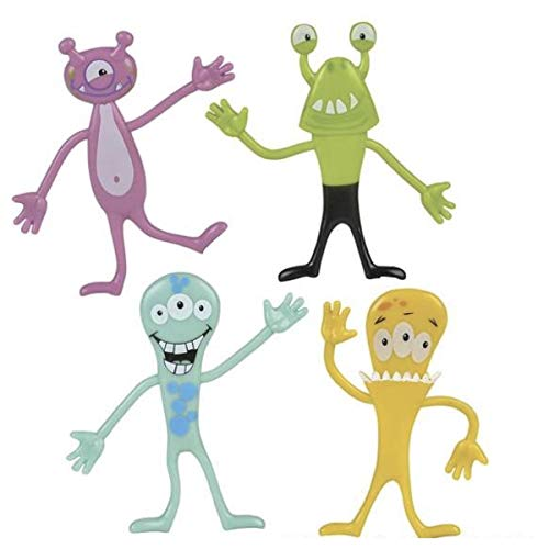 Bendable Monsters - Package of 16 - Halloween Party Favors - Give A Ways -