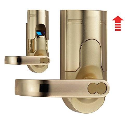 digi electronic biometric fingerprint door lock keypad set 6600 86 intersected gold left hand. Black Bedroom Furniture Sets. Home Design Ideas