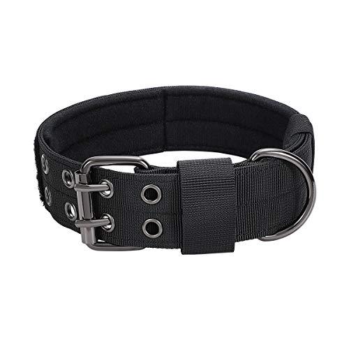 1958LLC Adjustable Dog Collar Military Heavy Duty Nylon Dog Collar with Metal D Ring & Buckle