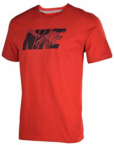 Nike Men's Nike Futura Camouflage Camp T-Shirt Small Red Camo - Nike Camp Shirt