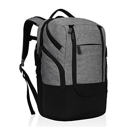 Veevanpro Backpack Cooler Laptop Backpack 15.6 inches Backpack Coolers Insulated Leakproof Waterproof Cooler Bag 24 Cans for Men Women to Camping, Hiking, Beach, Day Trips, Grey