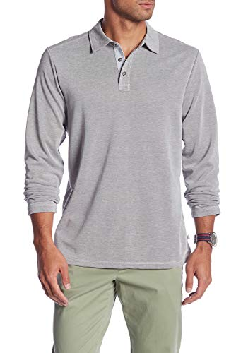 Tommy Bahama Long Sleeve Shoreline Surf Golf Polo Shirt (Color: Onyx, Size L) (Tommy Bahama Lyocell Shirts)