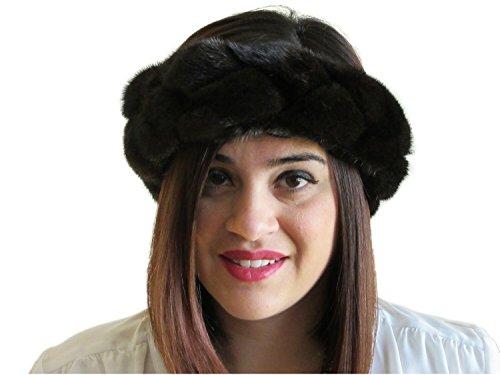 Braided Ranch Mink Headband, Neck Warmer & (New Mink Fur Headband)