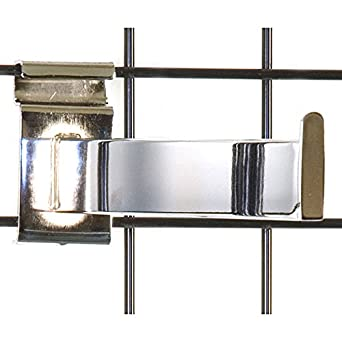 Pack of 10 New Chrome Rectangular Tube Gridwall Faceout 12 Inch Long