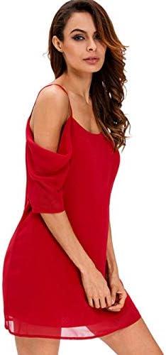 Wenhu New YJ Frauen-Kleid-Sommer-Loser Strand Kleidung Mädchen Mini-Riemen-Prinzessin-Kleider für Frauen Sexy Weg von der Schulter kurzen Kleid Breathe,F,M