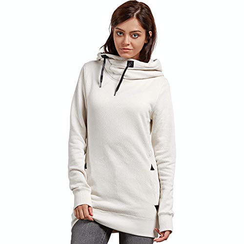 - Volcom Women's Tower Pullover Heather Fleece Hooded Baselayer Sweatshirt, Bone, Extra Small