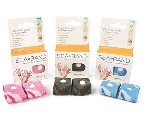 Sea-Band Wristband, Child, Colors May Vary, 1 Pair, Anti-Nausea Acupressure Motion or Morning Sickness (.2 Pack)