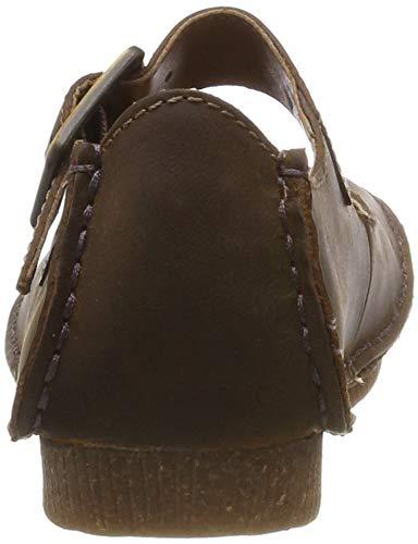 Femme June Marron Ballerines Clarks Janey Leather beeswax 0Cq0v
