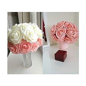HANBINGPO 10 Heads 8CM Pretty Charming Artificial Flowers PE Foam Rose Flowers Bride Bouquet Home Wedding Decor Scrapbooking DIY Supplies 38