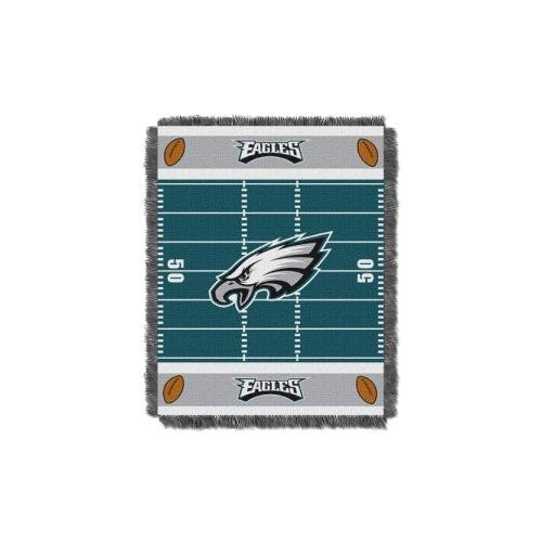 The Northwest Company Philadelphia Eagles NFL Triple Woven Jacquard Throw (Field Baby Series) (36x48) (2-Pack)