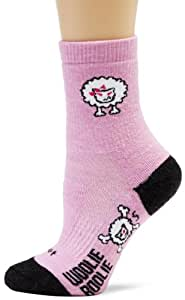 DeFeet Women's Woolie Boolie Bad Sheep Sock, Pink, Small