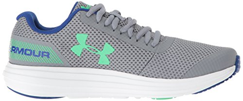 Under Armour Boys' Grade School Surge RN Sneaker, Steel (102)/White 4.5 by Under Armour (Image #6)