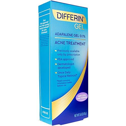 - Differin Adapalene Prescription Strength Retinoid Gel 0.1% Acne Treatment (up to 90 Day supply), 45 gram