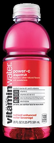 Glaceau Vitamin Water 12-20Floz Bottles (power-c dragonfruit)