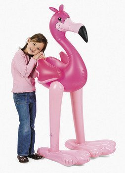 (Fun Express 4.5' Giant Inflatable Pink Flamingo (Luau Party Tropical Decoration))