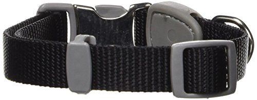 Petmate Signature Series 5/8-Inch by 10-16-Inch Adjustable Collar, Black