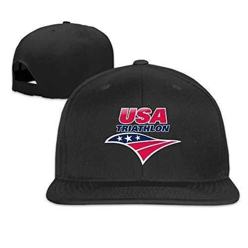 HAPYO Rio 2016 Olympics USA Triathlon Team Logo Adjustable Snapback Baseball Hats Flat Cap - Team Triathlon Usa