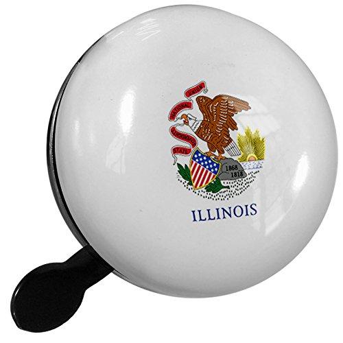 Illinois Bell (Small Bike Bell Illinois Flag region: America (USA) - NEONBLOND)