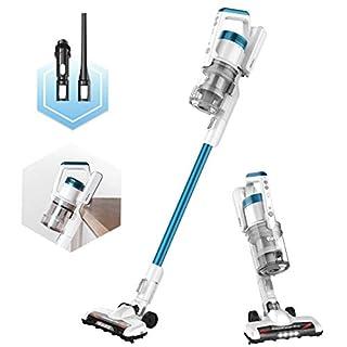 Eureka RapidClean Pro Lightweight Cordless Vacuum Cleaner, High Efficiency Powerful Digital Motor LED Headlights, Convenient Stick and Handheld Vac, Essential, Blue