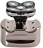 Skull Shaver Pitbull Platinum Electric Razor -for a Perfect Bald Look Wet/Dry 5 Head 4d Cordless USB Rechargeable Rotary Shaver
