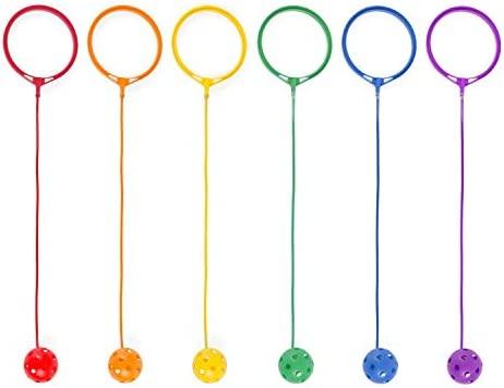 Garneck 2Pcs Kn/öchel /Überspringen Ball Sport Swing Ball Blinkenden Springring Tanzball Spielzeugball Spiele H/üpfb/älle f/ür Kinder Fitnessger/äte Blau