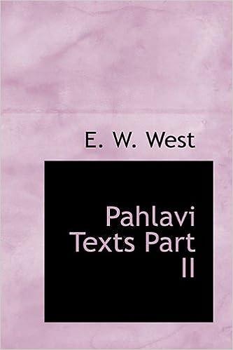 Google Buch-Download-Link Pahlavi Texts Part II PDF MOBI