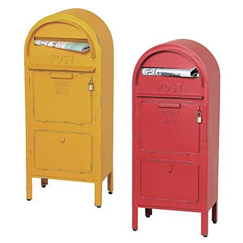 ポスト 郵便ポスト 郵便受け スタンドタイプ アメリカンポスト SI-2857(レッド) B01LVWWC35レッド