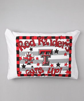 Bunnies and Bows - Texas Tech University Stripes - Personalized Pillowcase ()