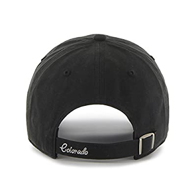 MLB Colorado Rockies Women's Sparkle Clean Up Adjustable Hat, Black