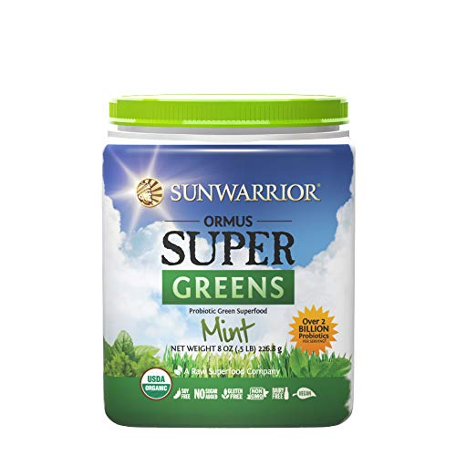Sunwarrior – Ormus Supergreens, Powerful Vegan Greens with Trace Minerals, Organic, Gluten Free, Non-GMO, Mint, 45 Servings (8 oz.) Review