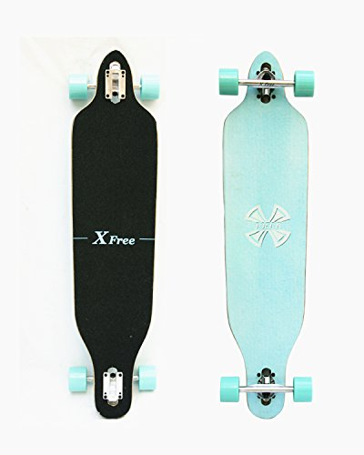 Xtreme Free 41 Inchs Professional Speed Downhill Drop Through Complete Longboard (41-Inch) Skateboard