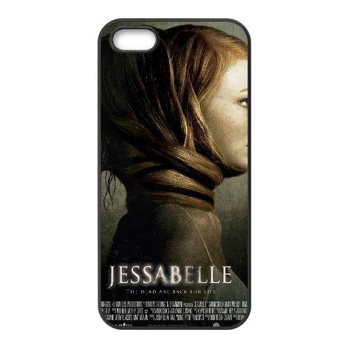 Jessabelle coque iPhone 5 5S cellulaire cas coque de téléphone cas téléphone cellulaire noir couvercle EOKXLLNCD24770
