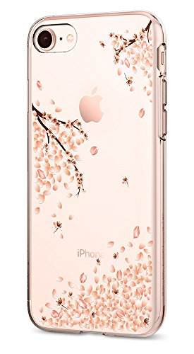 Spigen Liquid Crystal [2nd Generation] iPhone 8 Case/iPhone 7 Case with Slim Protection and Premium Clarity for Apple iPhone 8 (2017) / iPhone 7 (2016) - Blossom