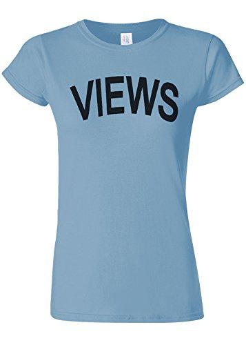 ロック世界記録のギネスブックエコーViews Funny Slogan Novelty Light Blue Women T Shirt Top-XXL
