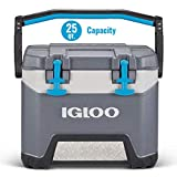 2. Igloo BMX 25 Quart Cooler with Cool Riser Technology, Fish Ruler, and Tie-Down Points - 11.29 Pounds - Carbonite Gray and Blue